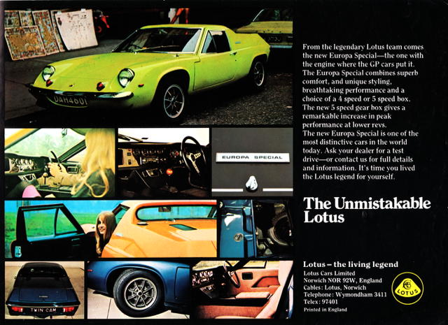 Lotus EUropa with Dolly-bird