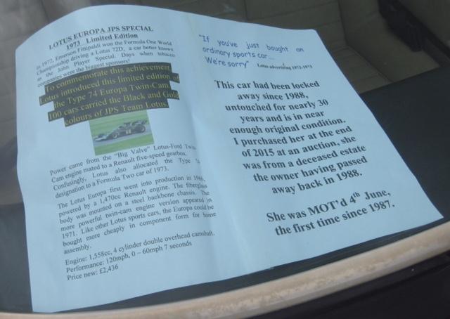 notice in window of Lotus